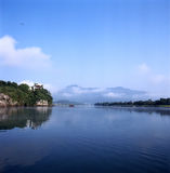 The Taohua tam. The river is full of fog, shoot in anhui China Royalty Free Stock Photography
