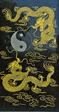 Taoism portal and dragons. Taoism portal with dragons around Stock Images