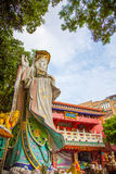 Taoism statue outside temple, Hong Kong, China royalty free stock images