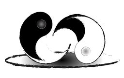 Taoism. A struggle between good and evil Royalty Free Stock Photo