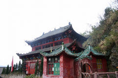 Taoism temple. In china around by the smog Royalty Free Stock Image