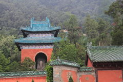 Taoist Buildings in china. Taoist Buildings  in wudang mountains,china Stock Photo