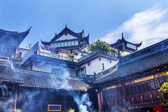 Taoist City God Temple Incense Smoke Yueyuan Shanghai China Royalty Free Stock Images
