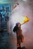 Taoist-eifriger Anhänger am neun Kaiser-Gott-Festival Lizenzfreie Stockfotografie