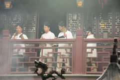 Taoist Monks Chanting Royalty Free Stock Photo