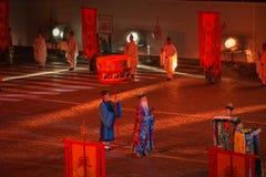 Taoist monniken van Wudang (China) Stock Fotografie