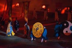 Taoist monniken van Wudang (China) Stock Afbeelding