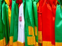 Taoist prayer ribbons Stock Images