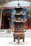 Taoist tempel in berg Huashan Royalty-vrije Stock Afbeelding