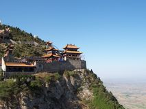 The Taoist temple. The Mian Mountain in Shan Xi, China Stock Photography