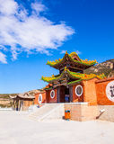 Taoist temple in the Mountain Hengshan(Northern Great Mountain). Royalty Free Stock Photo