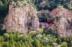Taoist temple in the Mountain Hengshan(Northern Great Mountain). Stock Photo