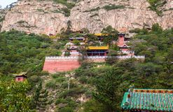 Taoist temple in the Mountain Hengshan(Northern Great Mountain). Royalty Free Stock Photos