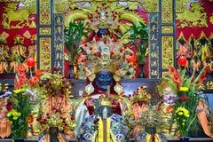 Taoist temple in Taipei - Taiwan. Altar in a Taoist temple in Taipei - Taiwan stock photos