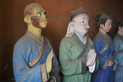 Taoist temple tao in Beijing China with religious statues departments of afterlife. Nice stock images