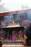 Taoisttempel im Huashan Berg Lizenzfreie Stockfotos