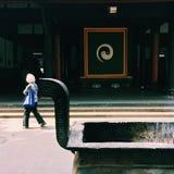 Taoisttempel und ein Gebet Lizenzfreies Stockfoto