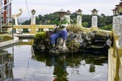 Taoistycznego Świątynnego Cebu Filipińskiego dnia jaskrawy barwiony piękny Obrazy Royalty Free