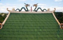 Taoistyczni Świątynni smoki zdjęcie royalty free