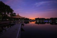 Taoranting park przy nocą Obrazy Royalty Free