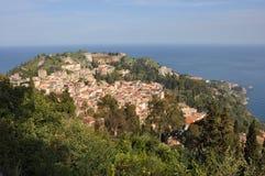 Taormia sicily. Village on italian island of sicily Stock Photo