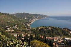 Taormia sicily. Village on italian island of sicily Stock Photography