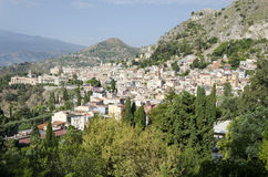 Taormina视图 库存照片