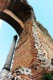taormina,废墟古希腊剧院  库存照片