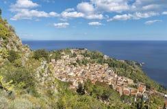 Taormina - światopogląd nad miastem obraz royalty free