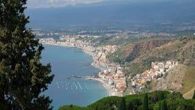 Taormina από τα ύψη στοκ φωτογραφίες