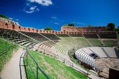 Taormina -希腊剧院 库存图片