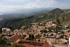 Taormina. The beautiful small town of Taormina, Sicily Stock Photo