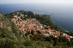 Taormina. The beautiful small town of Taormina, Sicily Royalty Free Stock Images