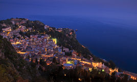Taormina. Small and ancient Sicilian town Stock Photo