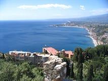 Taormina, alte Stadt Italien Stockbilder