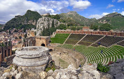 Taormina amphitheater Royalty Free Stock Photo