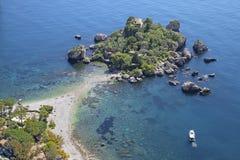 Taormina - The beautifull little island Isola Bella. Italy - Taormina - The beautifull little island Isola Bella royalty free stock photography