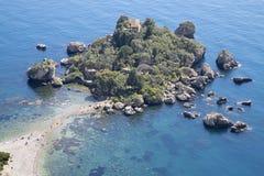 Taormina - The beautifull little island Isola Bella. Italy - Taormina - The beautifull little island Isola Bella royalty free stock photos