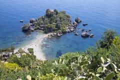 Taormina - The beautifull little island Isola Bella. Italy - Taormina - The beautifull little island Isola Bella royalty free stock images