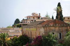 Taormina buildings and roofs Royalty Free Stock Image