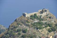 Taormina, Castello Saraceno Fotografía de archivo libre de regalías