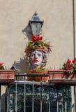 Taormina Ceramisch hoofd van Moor stock afbeelding