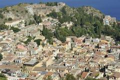 Taormina, ciudad Fotos de archivo libres de regalías