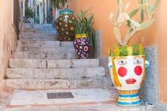 Taormina corners stock photos
