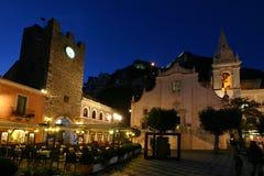 Taormina in de winter Royalty-vrije Stock Fotografie