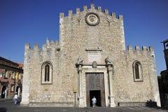 Taormina, di (=Cathedral) Bari de San Nicolo del Duomo Imagen de archivo libre de regalías