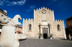 Taormina - Duomo Square Stock Photography