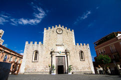 Taormina - Duomo Square Royalty Free Stock Photo