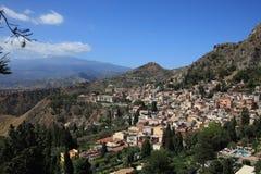 Taormina en Sicilia Fotos de archivo