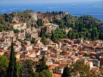 Taormina - estância turística siciliano Imagens de Stock